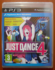 Just Dance 4, Ubisoft, PlayStation 3 PS3, PS Move, Pal-España ¡NUEVO PRECINTADO!