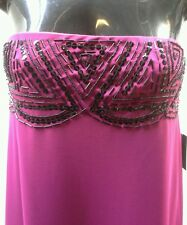 ASOS Size 10 12 Maternity Strapless Purple Beaded Evening Dress NWT RRP $199