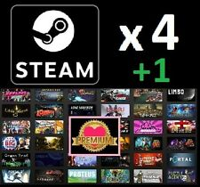 4 Premium Random Steam Games +1 BONUS PC CD-Key Fast Delivery -GAME BUNDLE-