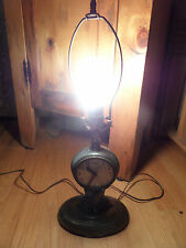 #3V/VINTAGE SESSIONS CLOCK LAMP/RARE/CLOCK NEEDS REPAIR/SILVER TONE/NO SHADE!