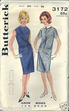 VTG Butterick Sewing Pattern 3172 Button Front Step-In Casual Dress Size 14