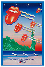 Mick Jagger & The Rolling Stones American Tour Poster 1981  PROMOTIONAL  13x19