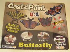 2005 Jakks Pacific CAST & PAINT Craft Kit BUTTERFLY 4 Models For Ages 6+~~NIB!!