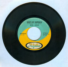 Philippines NORA AUNOR Here's My Happiness OPM 45 rpm w/ cover Record