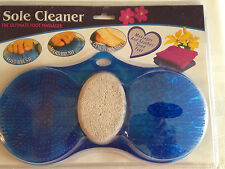 The Ultimate Foot Massager - Sole Cleaner - Soft & Hard Brush - Genuine Pumice