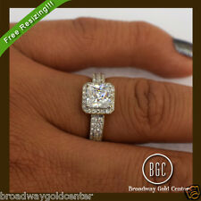 2.10 CTW Princess Cut Halo Pave Engagement Ring 14k Solid Yellow Gold ON SALE!!!
