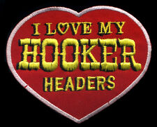 Hooker Headers Patch automotive Hot Rod Drag Race Mechanic Heart