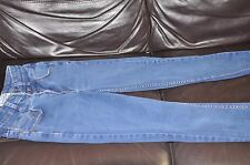 ladies new look high waist super skinny stretch jeans sz 10 3 buttons and zip