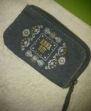 RARE IMPORTED USA ANNA SUI DENIM WALLET POUCH