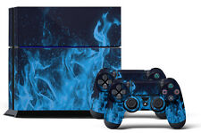 Skin Sticker for PS4 System Playstation 4 Console +2 Controller Decals ICE