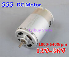 DC 555 Motor 12V-36V 24V Permanent Magnet 3.25mm Shaft DIY Small Electic Drill