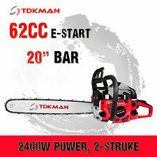 "TDKMAN 62CC Petrol Chainsaw Chain Saw 20"" Inch Bar Tree Log Pruning Pruner"