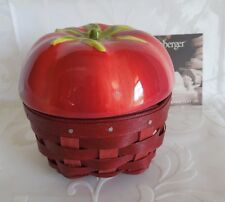 LONGABERGER~Tomato Basket COMBO SET~Pottery Topper & Protector~2012~BRAND NEW!