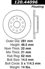 Disc Brake Rotor-High Performance Drilled Centric fits 92-95 Toyota MR2