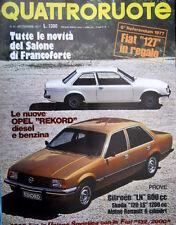 Quattroruote 261 1977 Prove Citroen LN 600cc, Alphine Renault 6 cil. Rekord Q94]