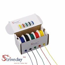50m 28AWG 5 color Mix box 1 package Electrical Wire Line Airline Copper PCB Wire