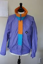 Vtg Retro 90s Woolrich Woman M Sigmet Gear Jacket Lilac Purple Colorblock Mint!