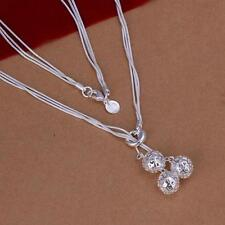 Women's Jewelry Sterling 925 Silver Gift Fashion Necklace Ball Pendant