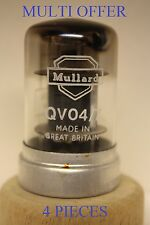 QV04-7 CV309 MULLARD LOGO 4 PIECES MULTI OFFER AUDIO OUTPUT PENTODE VALVE TUBE