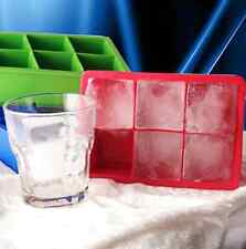 Large Silicone Square Tray Tool Ice Cube Pudding Jelly Soap Mold Mould New