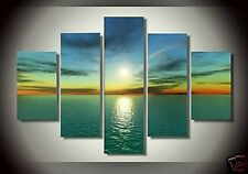Framed Canvas Wall Art Modern Contemporary Seascape Oil Painting HandPainted 278