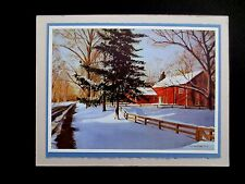 "Vintage AAG Sample Xmas Greeting Card by Mildred Sands Kratz ""End of Day"" Lovely"