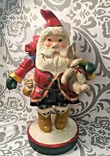 """LARGE 1992 House of Hatten Denise D Calla 13"""" SANTA CLAUS with Bunnies #348"""