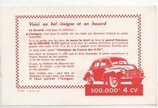 Buvard - Automobiles RENAULT. Concours 4 CV, insigne.  (Réf. 70/24)