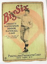 """VINTAGE ANTIQUE 1922 """"BIG SIX"""" CHRISTY MATHEWSON BOX COVER AND GAME BOARD"""