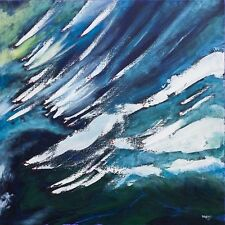 STUNNING ORIGINAL BRYONY HARRISON FOREST FIRE III QUENCHING  ABSTRACT PAINTING
