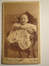 Sulzbach - Baby / Kleinkind im Stuhl / CDV