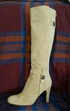 JUICY COUTURE Boots High Heel Beige Suede gorgeous Size 6 made Italy $ 449.99