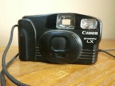 Canon Snappy LX 35mm FILM Uses AA Batteries BLACK With Wristlet USED CAMERA USA☆