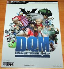 DRAGON QUEST MONSTERS JOKER Video Game Official Strategy Guide BradyGames NEW DS