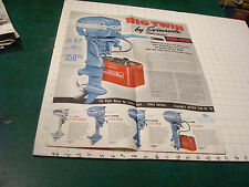 vintage paper item - 1950 BIG TWIN by EVENRUDE unfolds to POSTER