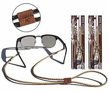 Tortuga Straps BRAIDZ Light Brown - Adjustable Leather Glasses Strap & Sunglass
