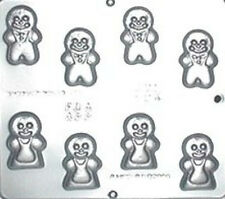 Small Gingerbread Men Pieces Chocolate Candy Mold  594 NEW