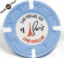 $1 ONE DOLLAR POKER GAMING CHIP PARIS LAS VEGAS HOTEL CASINO RESORT NEVADA 2008