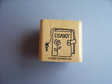 STAMPIN' UP RUBBER STAMPS DIARY WITH FLOWER STAMP