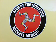 Michael Dunlop Rey de la montaña de Isle Of Man Tt ventiladores Sticker Decal 1 De 85mm