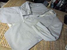 Beverly Hills Polo Club SEERSUCKER summer BLUE white stripe JACKET 50 R cotton