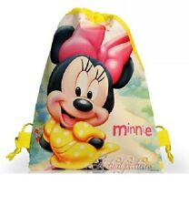 New Mickey & Minnie Mouse Drawstring Backpack School Swim Library Bag 28 x 22cm