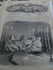 L'univers illustré 20 juin 1861 mort comte de cavour vue lausanne