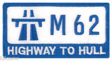 """HIGHWAY TO HULL EMBROIDERED PATCH 9CM X 4.5CM (3 1/2"""" X 1 3/4"""")"""