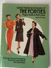 Great Fashion Designs of THE FORTIES Paper Dolls by Tom Tierney / 1987