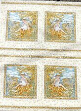 Fairy Squares Golden fabric 112 x 112 cm-each square is approx 18cm sqr(20 sqs