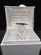 Glass Graduation Teddy Bear with Poem, Gift Boxed by Parmy #8