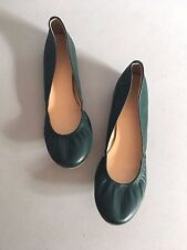 J.CREW $125 Cece Leather Scrunch Perfect Fit Ballet Flats Shoes Size 8 1/2