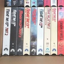 Friday the 13th Lot of 9 VHS Tapes -Slasher 1,2,3,4,5,6,7,8 And 9 Jason Horror