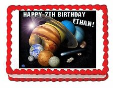 Solar System -Planets -Outer Space edible image party cake topper decoration